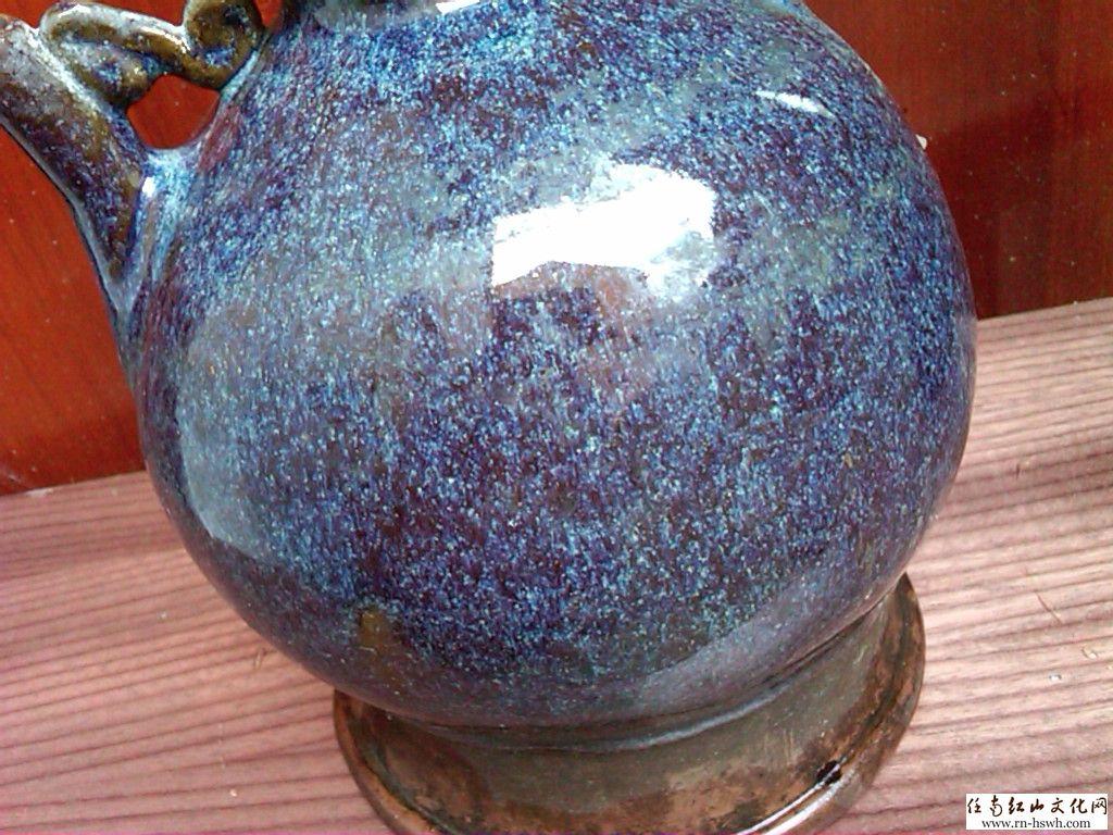 发个窑变釉瓷器,是元代的 中华古玩论坛 红山文化,任南红山